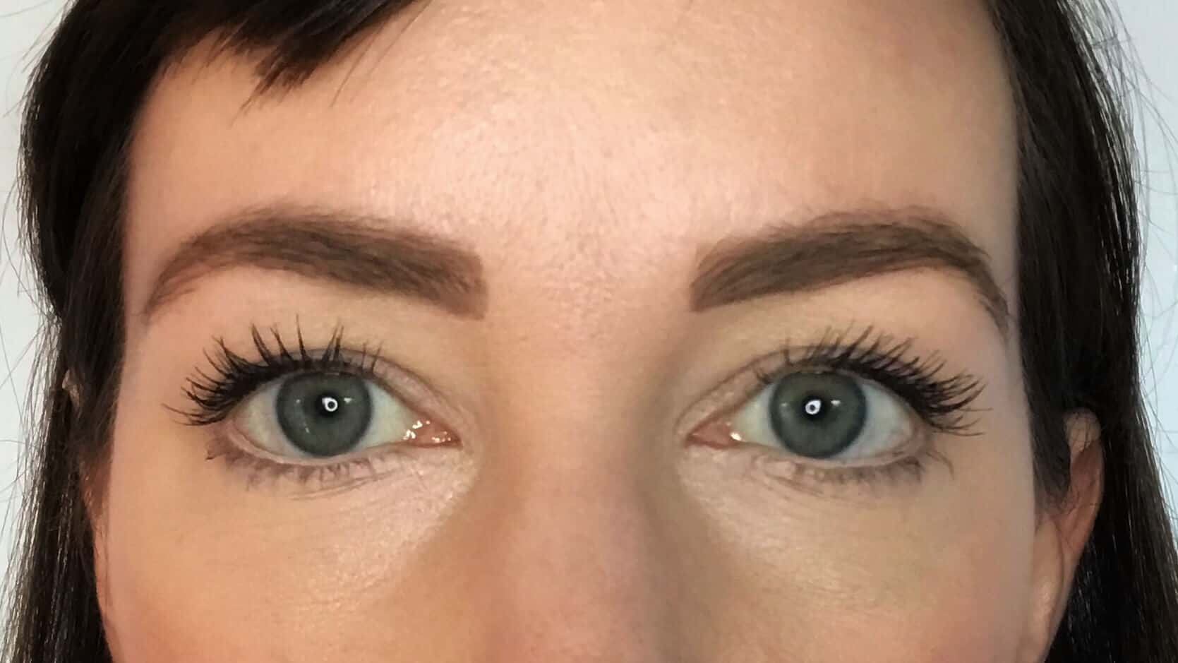 Both eyebrows with natural eyebrow pencil to make them look fuller