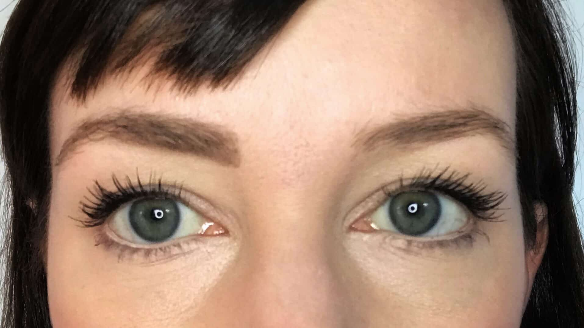 One eyebrow with natural eyebrow pencil to make them look fuller