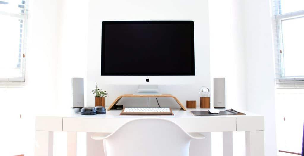 White Desk for a freelance copywriter in Milton Keynes