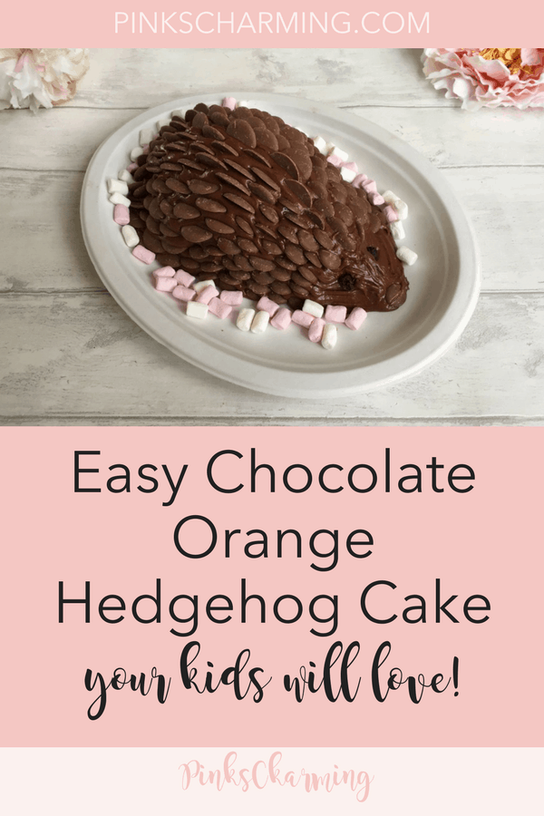How to make a chocolate orange hedgehog cake. An easy birthday cake recipe your kids will love. #chocolatecake #birthdaycake #easyrecipes
