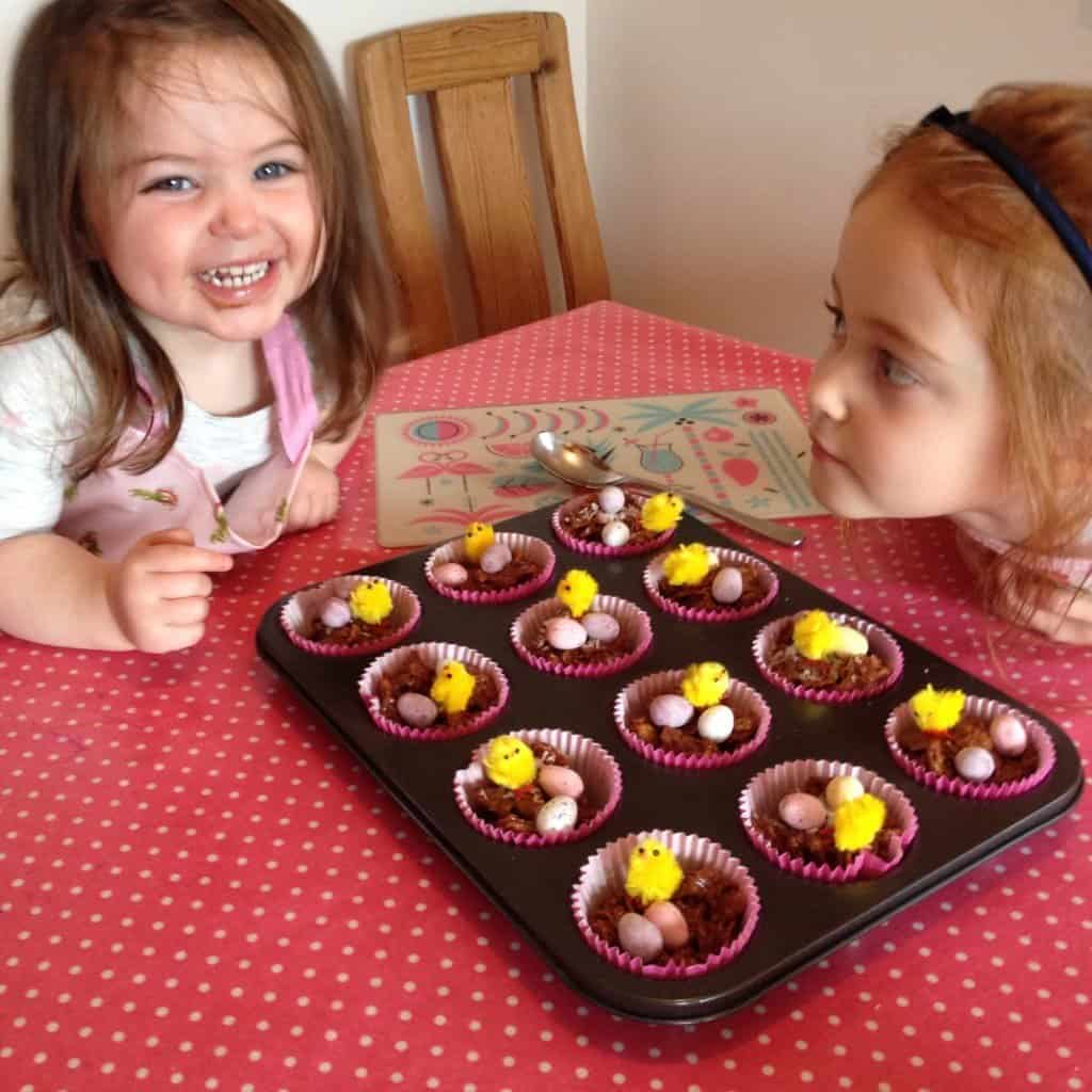 Chocolate Cornflake Easter Nests