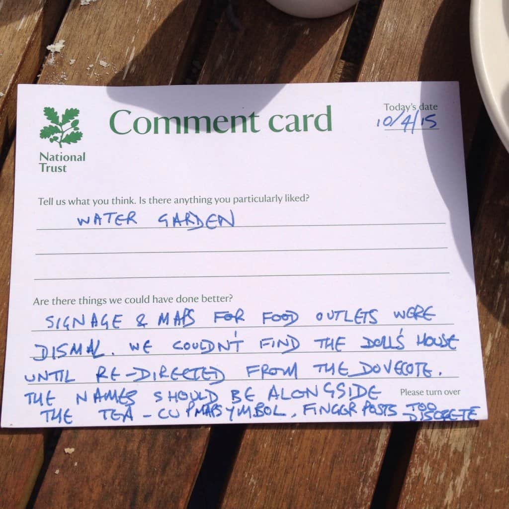 Dad's comments card