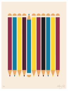 Howkapow Upside Down Pencils Print