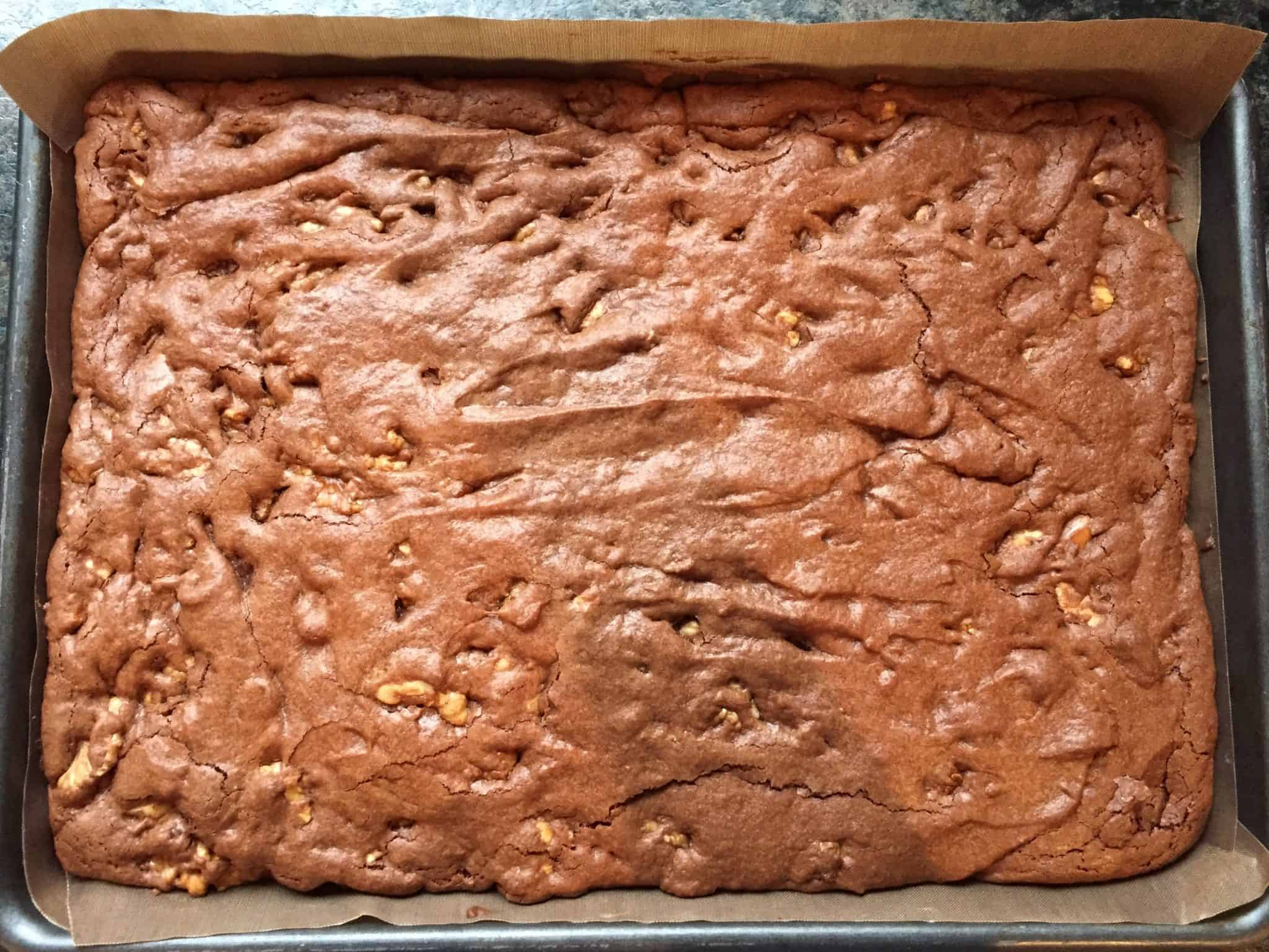 Cooked brownie mix