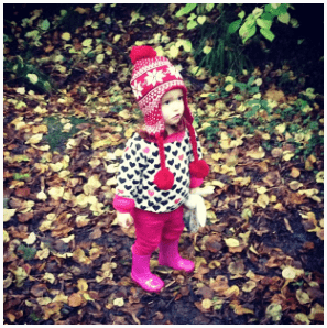 Ava in the autumn leaves