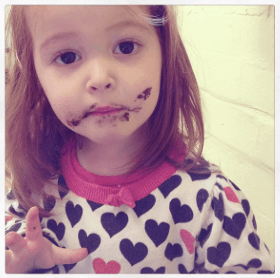 Ava loves chocolate