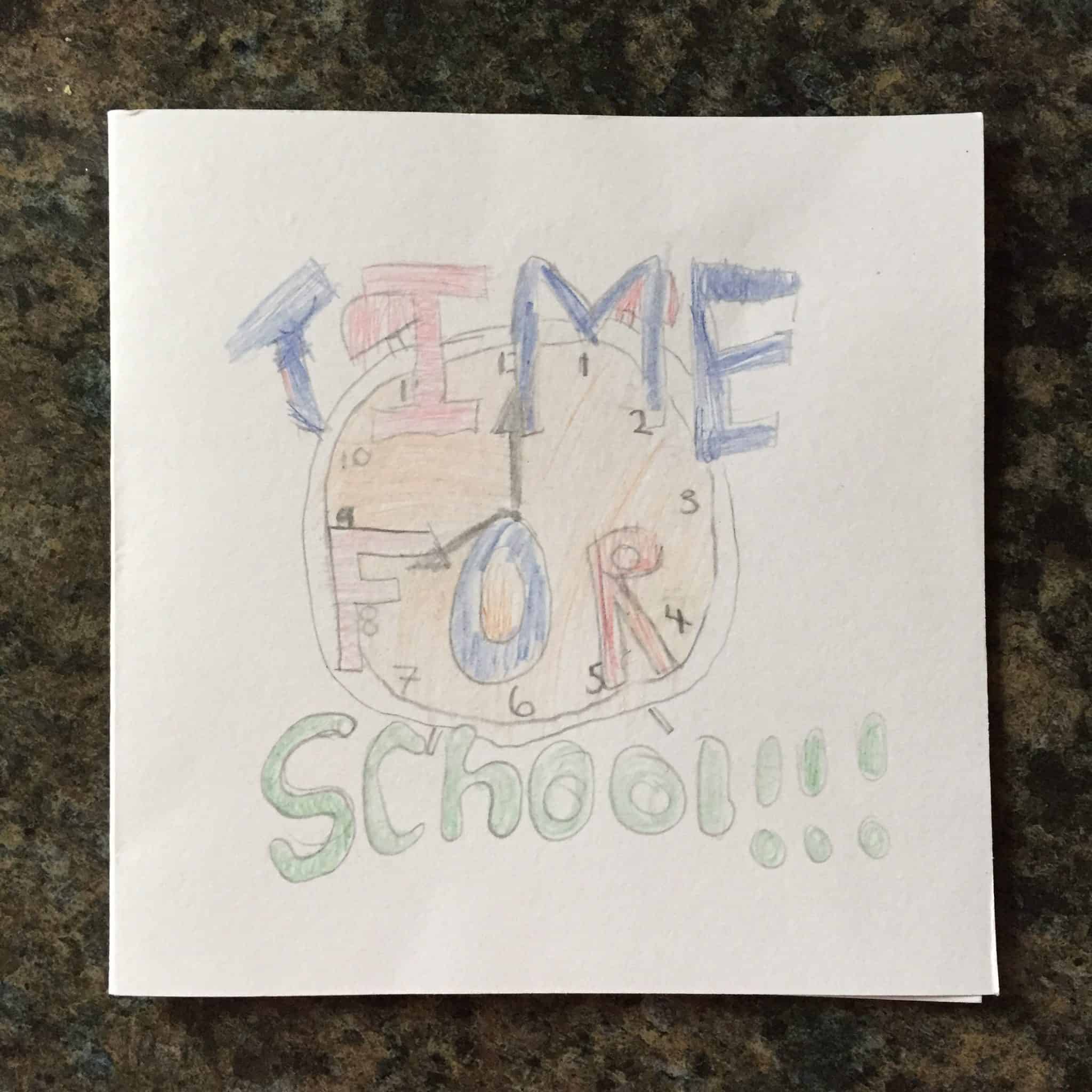Home made 'Time for School' card