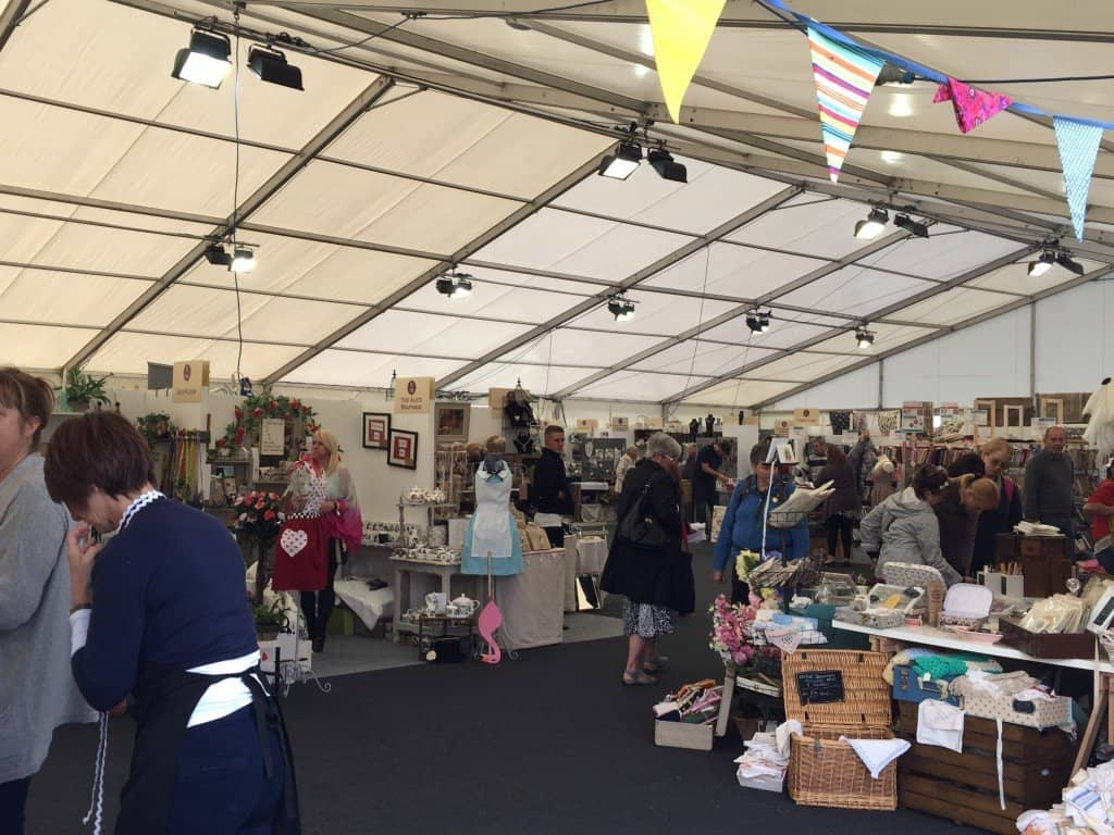 One of the Shopping Village marquees at The Handmade Fair
