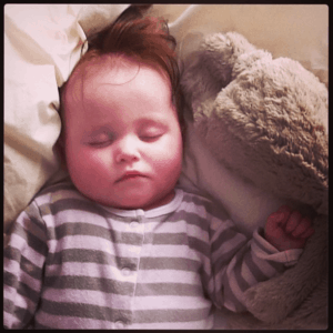 Baby Ava with Big Bunny