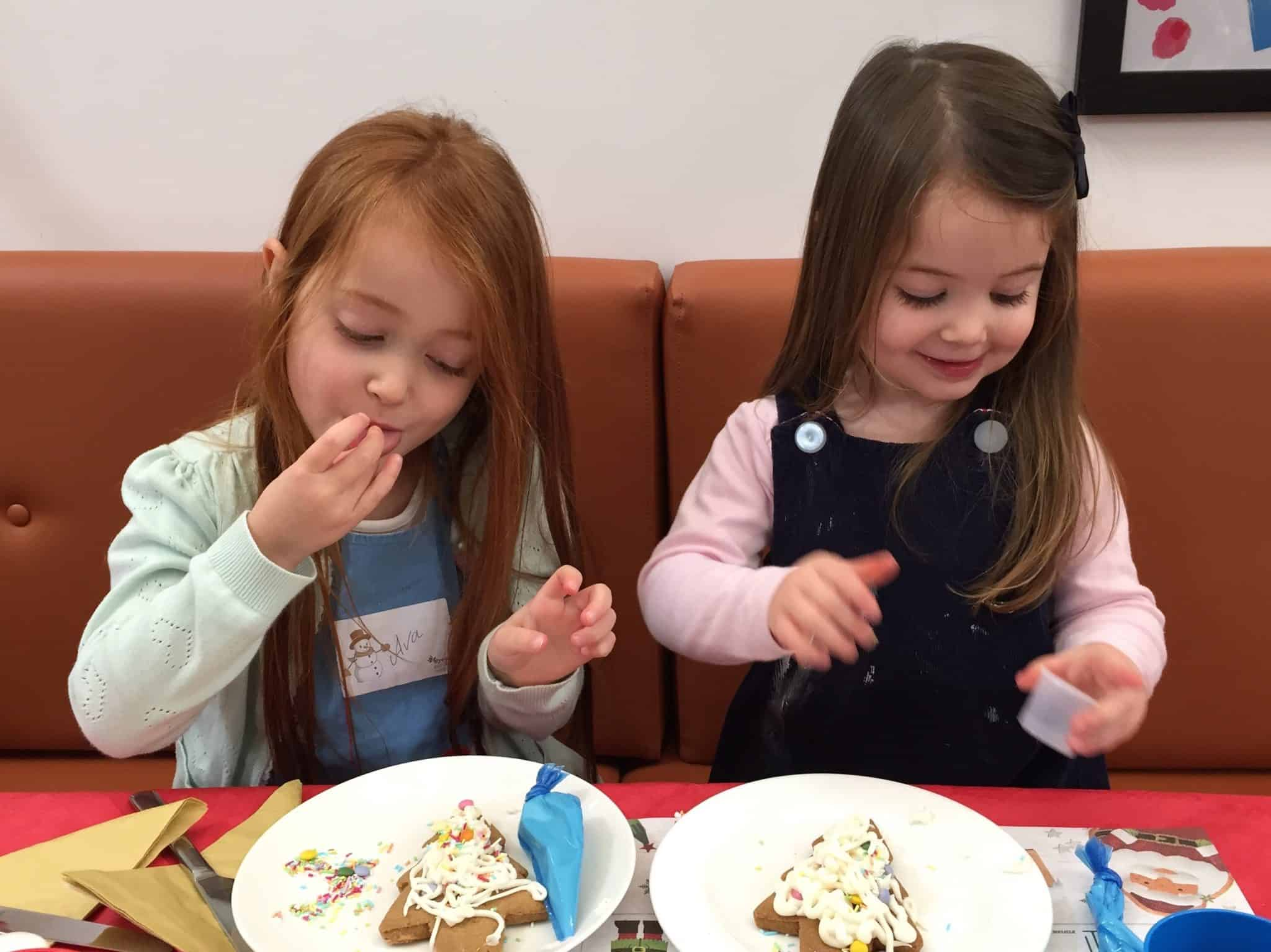 Ava and Thea only ate a BIT of the icing