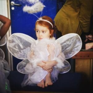 Ava in her nativity play aged four
