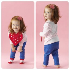 Ava modelling, aged eighteen months