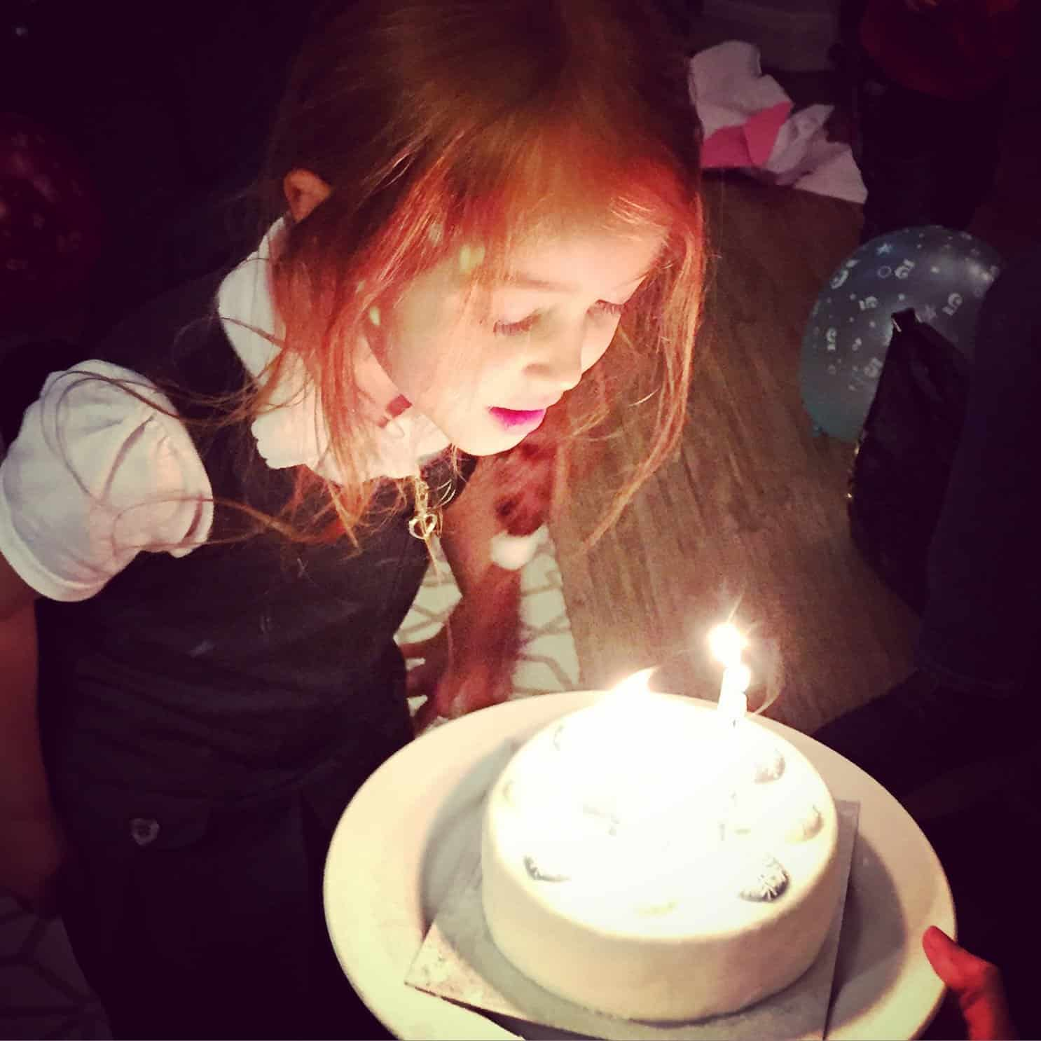 Ava on her fifth birthday