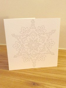 Home-Start's snowflake cards