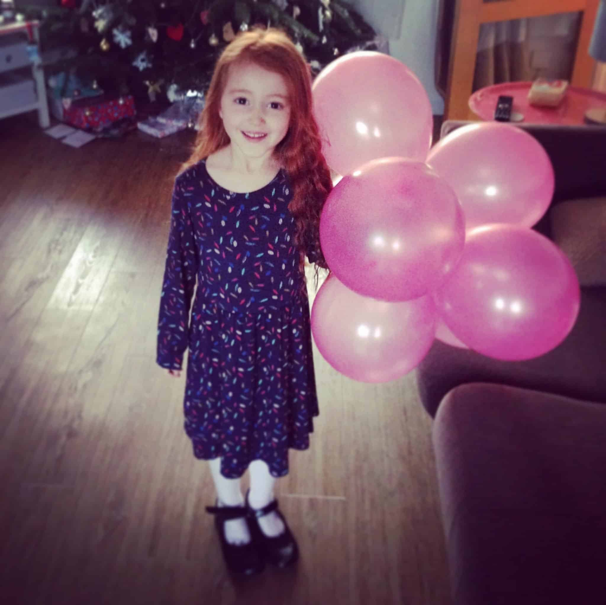 Ava before her 5th birthday party