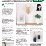 Faux Greenery August Celebrate MK Column