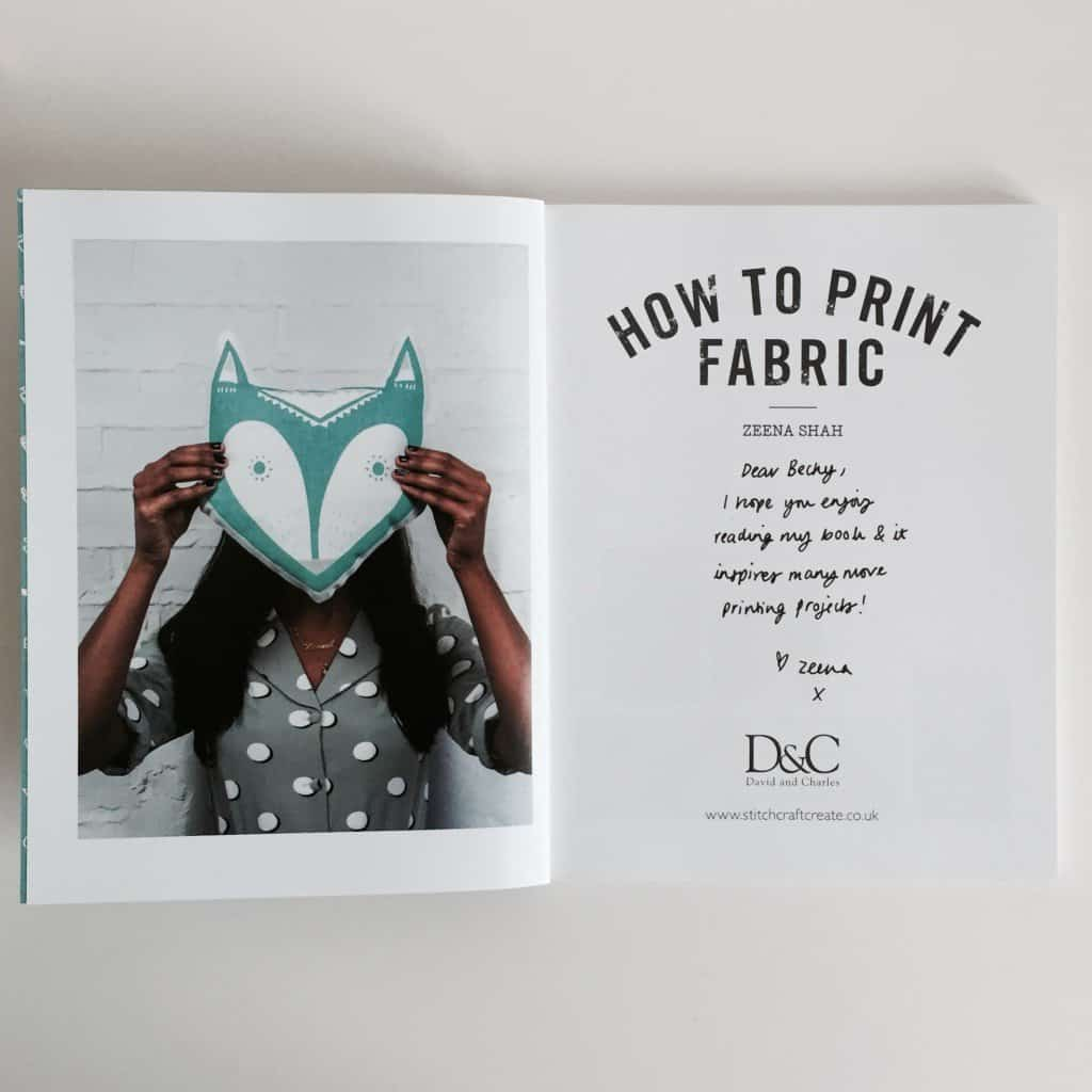 How To Print Fabric by Zeena Shah signed