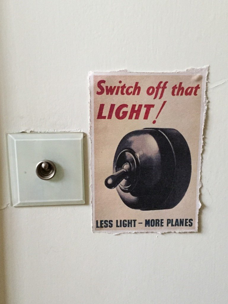 'Switch off that LIGHT!' poster
