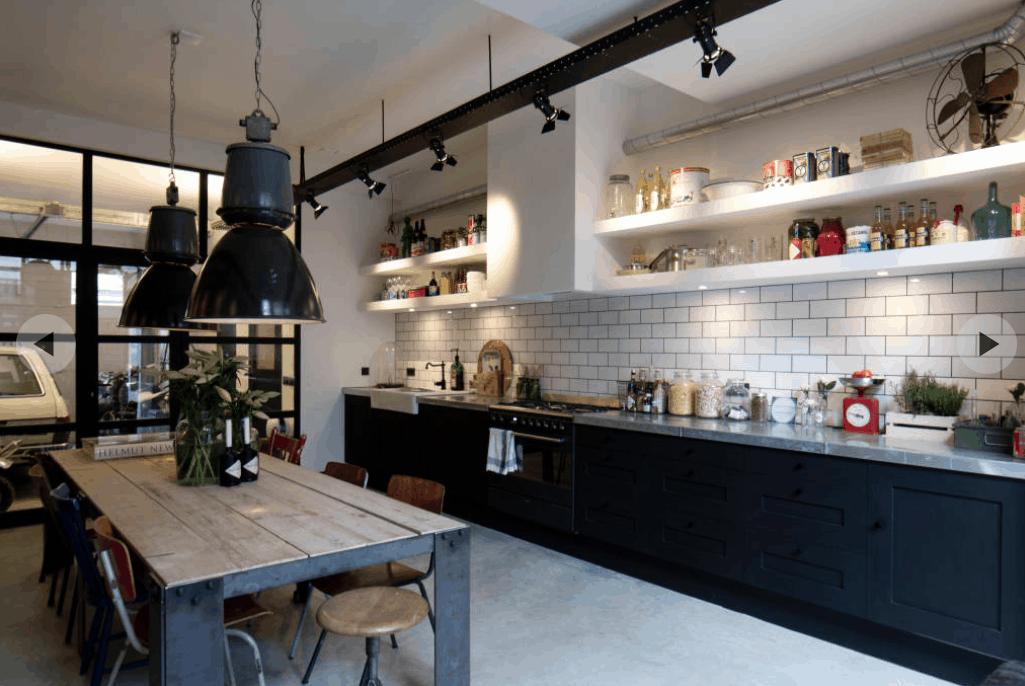 Industrial Kitchen from BRICKS Studio via IDEABOOKS