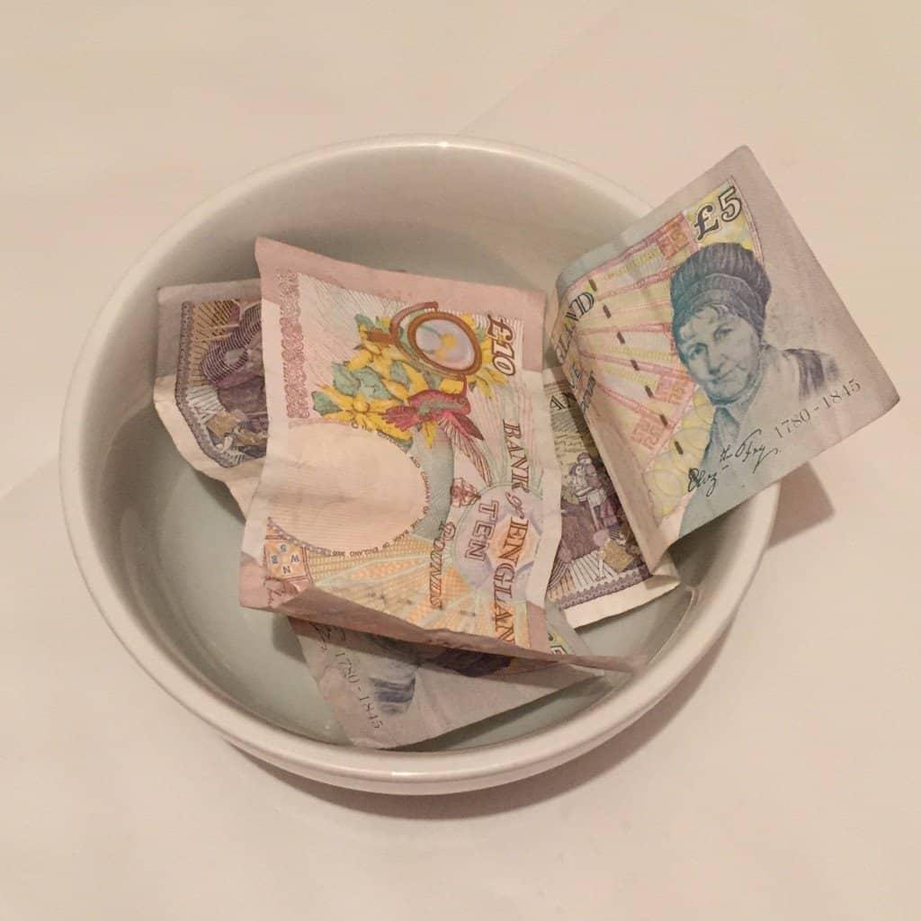 Money donated to Tiny Hearts