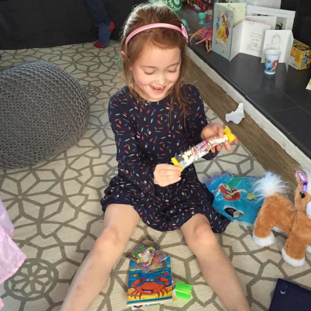 Ava loved her candy necklace from Party Bags & Supplies