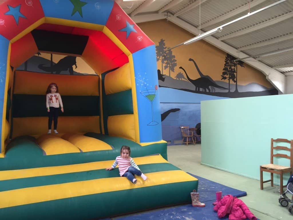 Indoor bouncy castle at Green Dragon Eco Farm