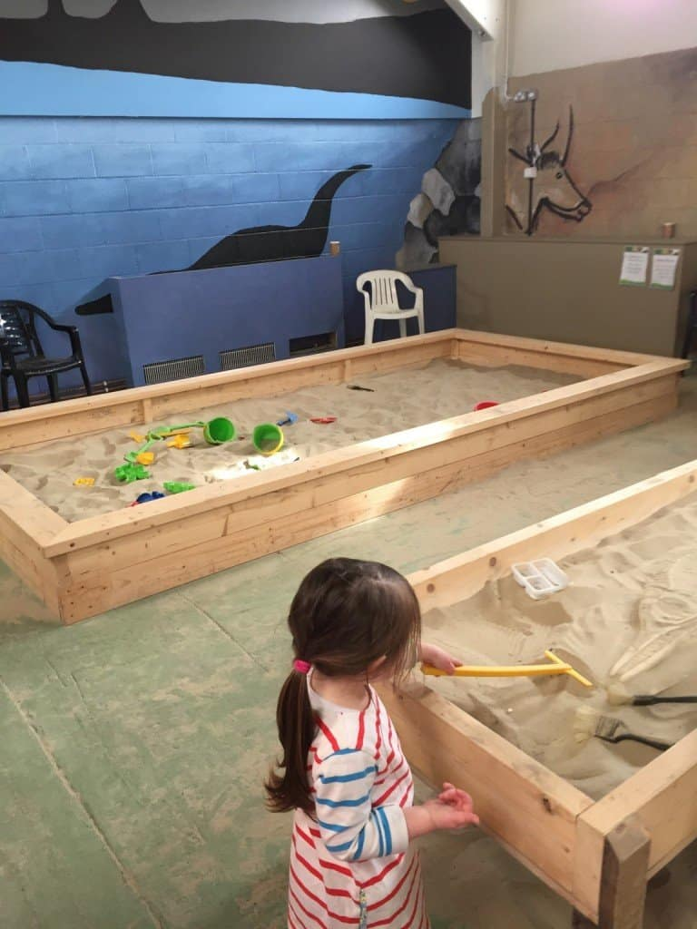 Indoor sandpits at Green Dragon Eco Farm