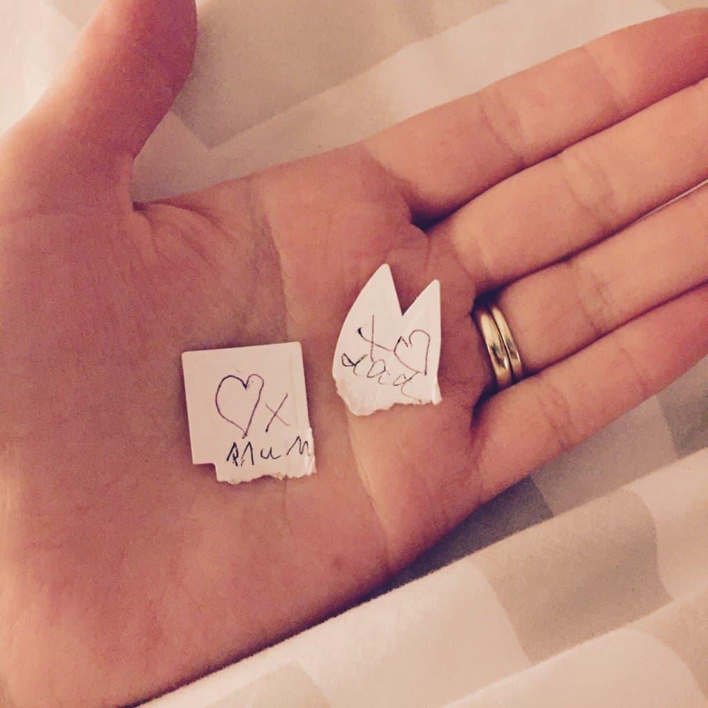 Tiny love notes from Ava