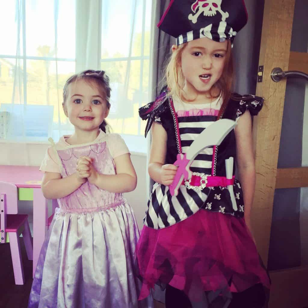 Thea and Ava in their World Book Day costumes