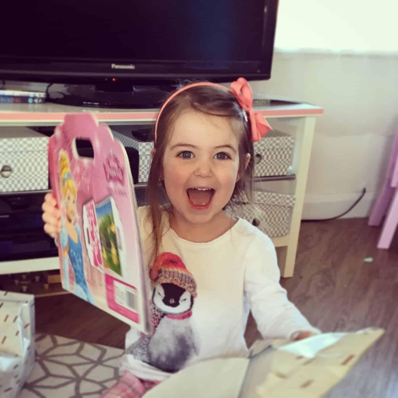 Thea on her third birthday