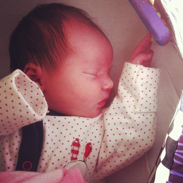 Thea, one day old