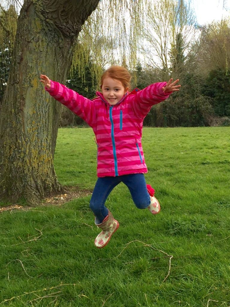 Ava couldn't be happier with her girly Poppy Girls' Snow Jacket from Trespass