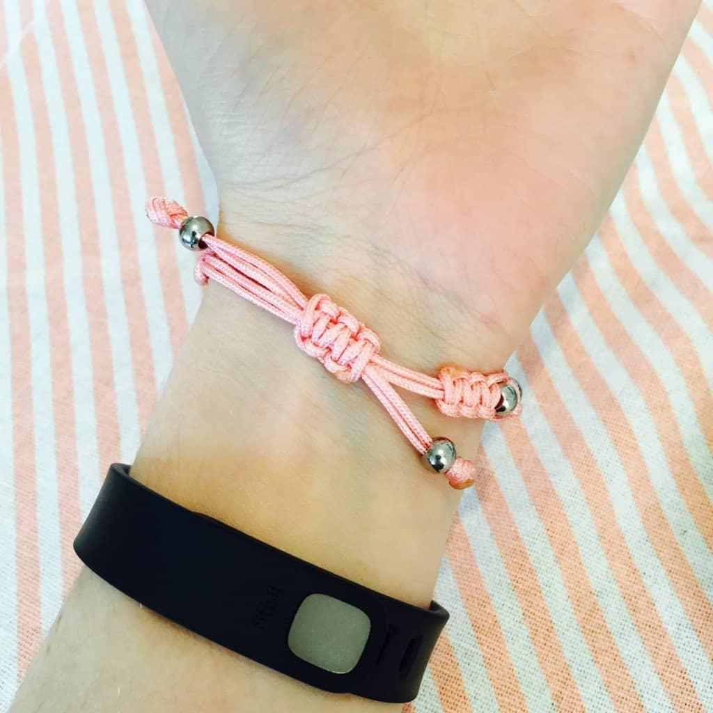 MyBugle pink Pixie ID bracelet and FitBitFlex