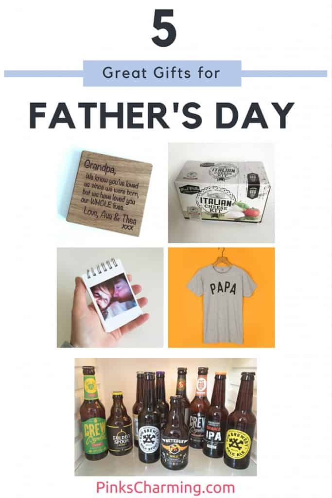 PinksCharming including a beer subscription service, cheese making kit, personalised oak coaster, mini photo book and a Selfish Mother charity T-shirt