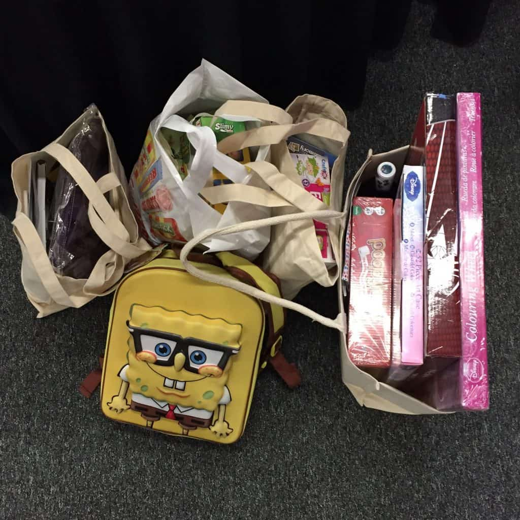 Goody bags and toys