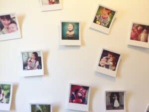 Polaroid stye Instagram pictures from Social Print Studio in Umbra snap frames