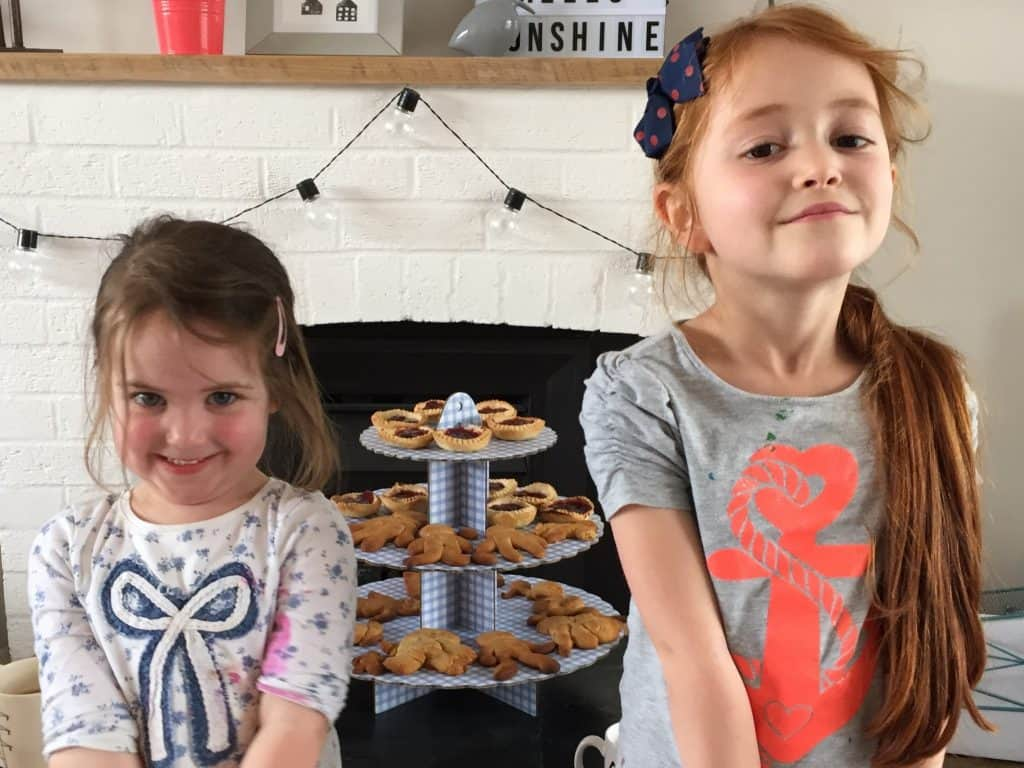 Thea and Ava and their home made treats