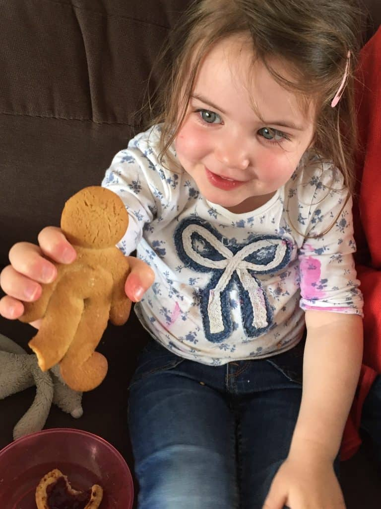 Thea and her gingerbread man