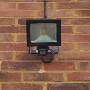Sensor activated home security light