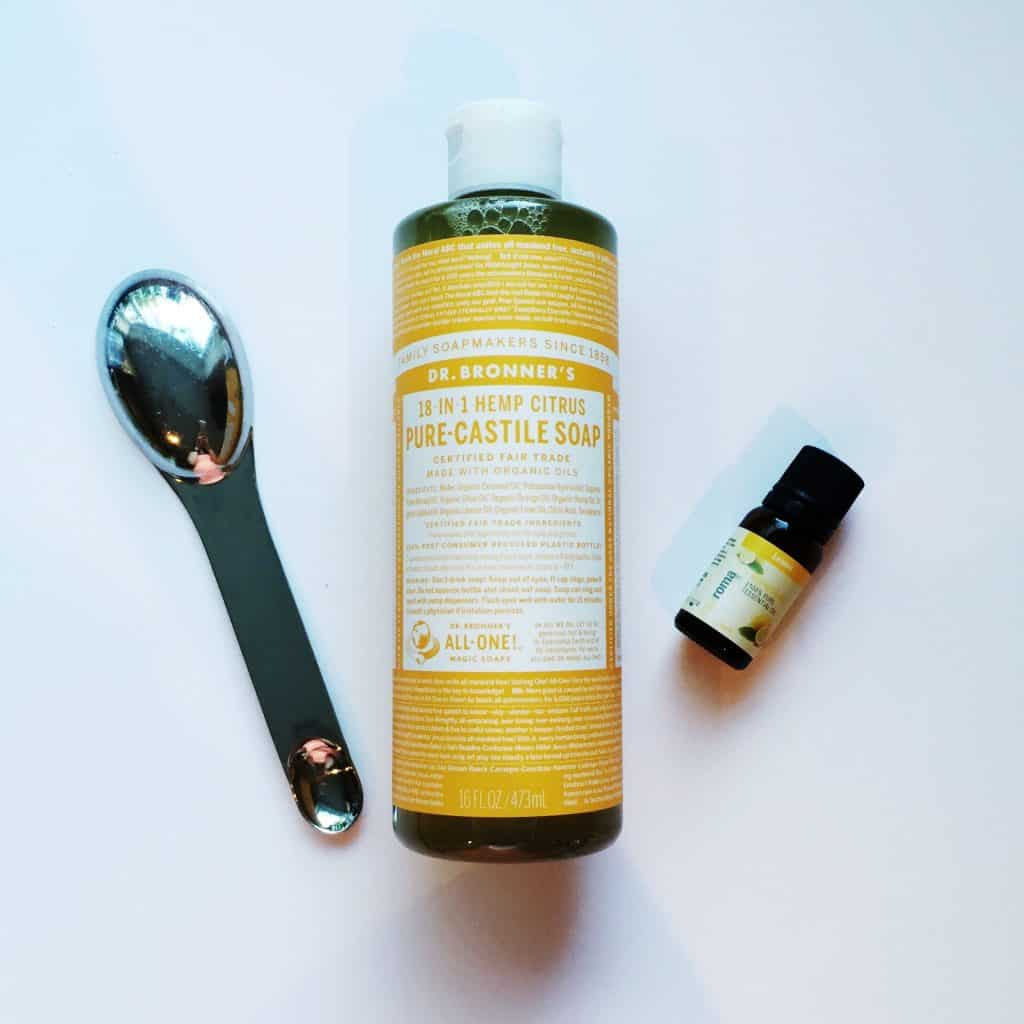 dr bronner 39 s castile soap and lemon oil for homemade laundry detergent pinkscharming. Black Bedroom Furniture Sets. Home Design Ideas