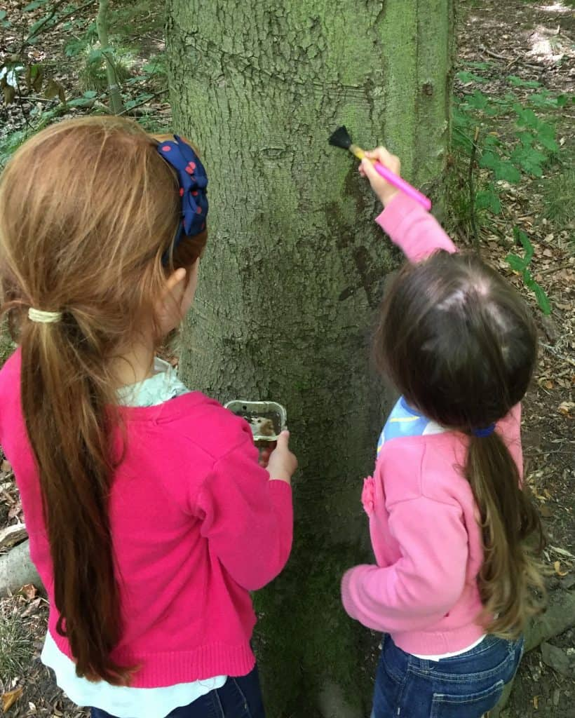 Mud painting at Salcey Forest