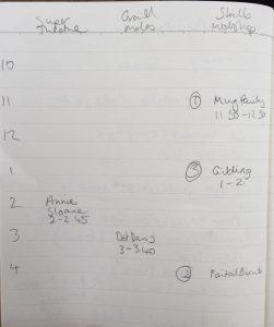 The Handmade Fair Timetable