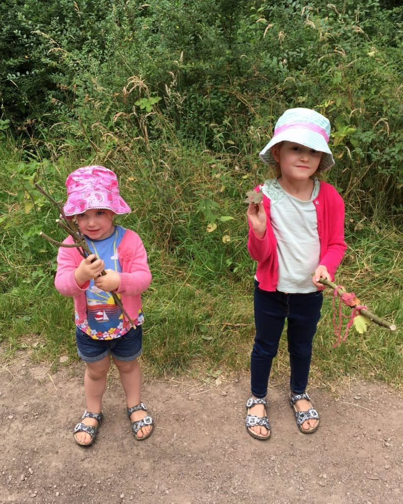Thea and Ava at Fire and Air at Salcey Forest
