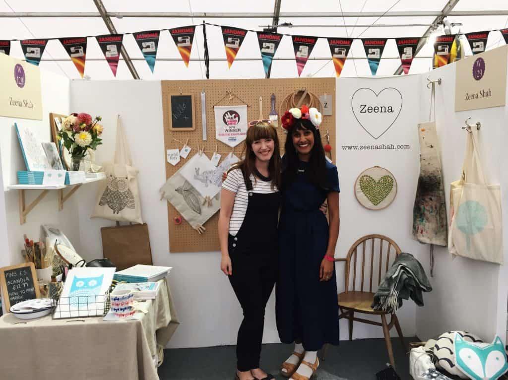 Becky and Zeena Shah at The Handmade Fair
