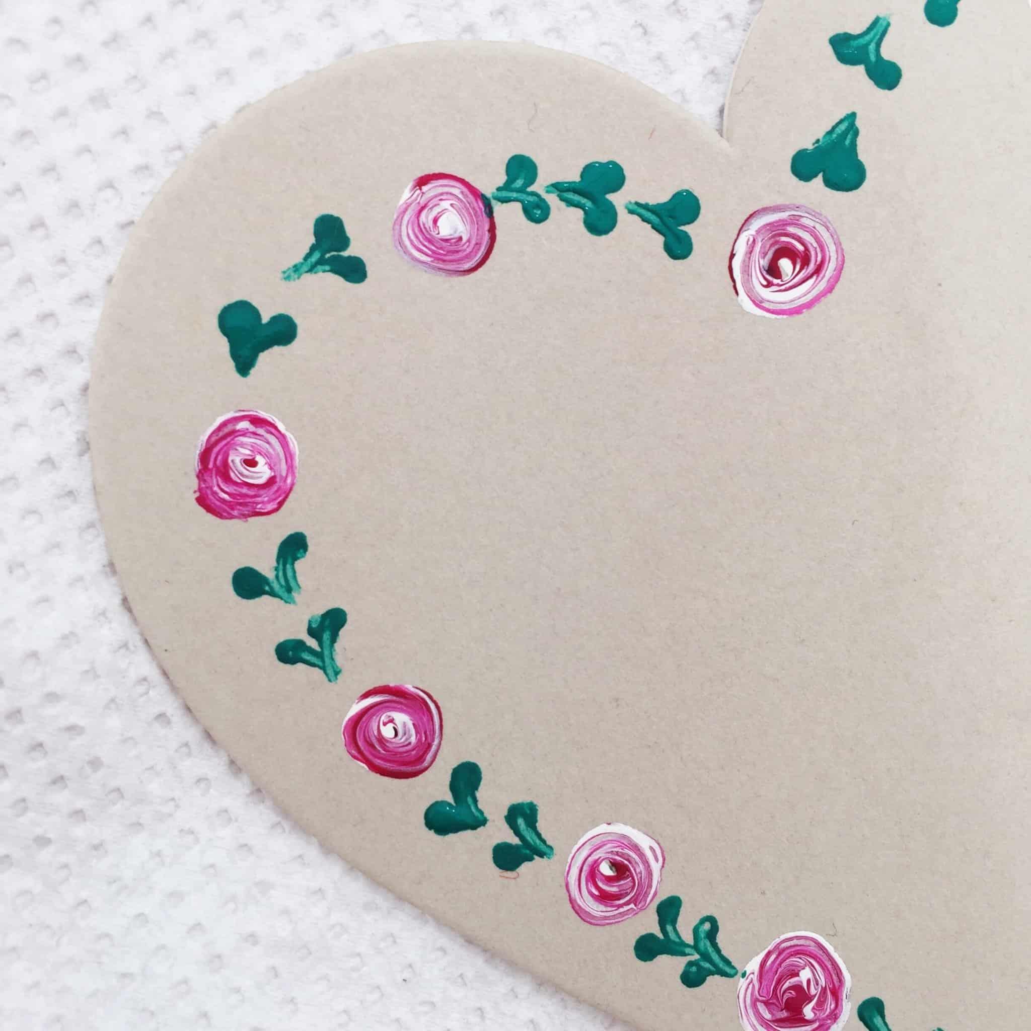 Half finished dot daisy heart at The Handmade Fair
