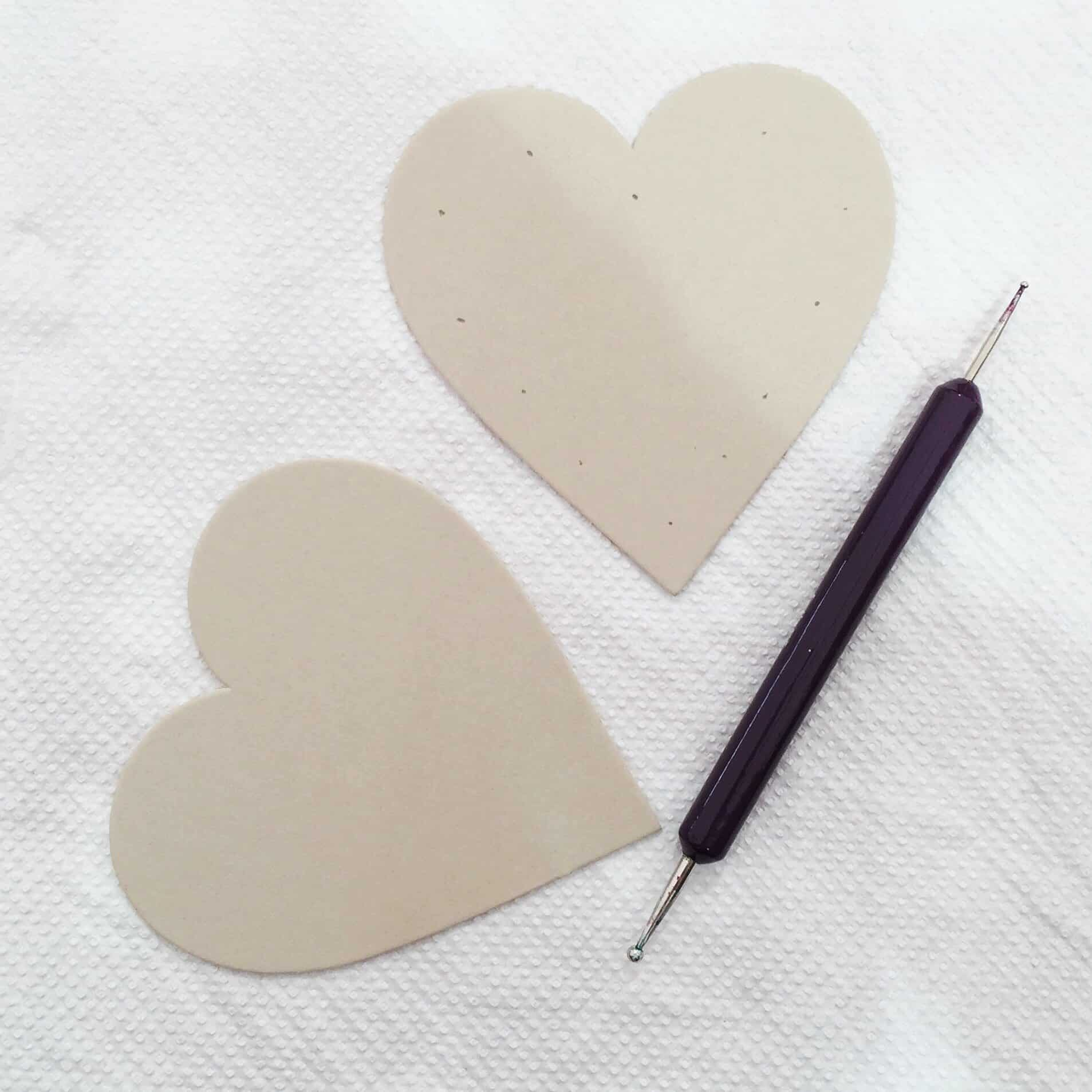 Heart and dotting tool at The Handmade Fair