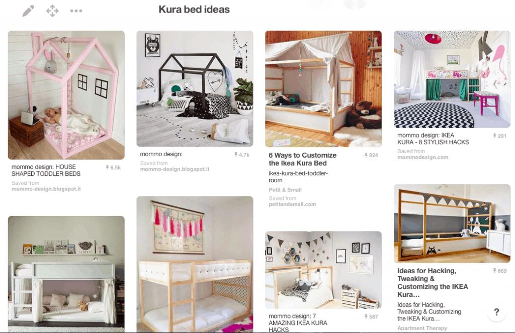 IKEA Kura Bed Pinterest ideas board