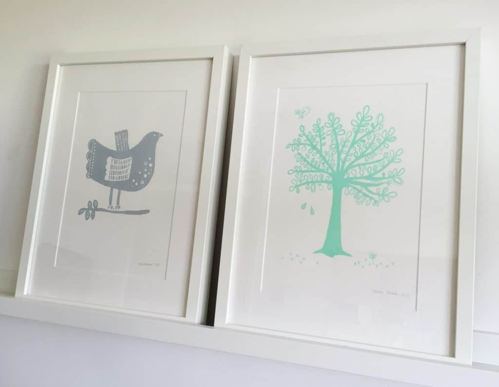 Beautiful bird and tree prints by Zeena Shah