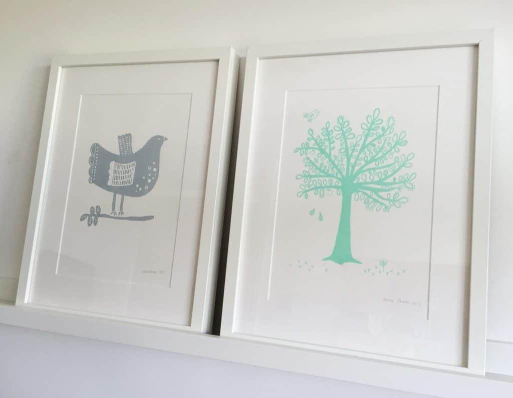 Beautiful bird and tree prints by Zeena Shah