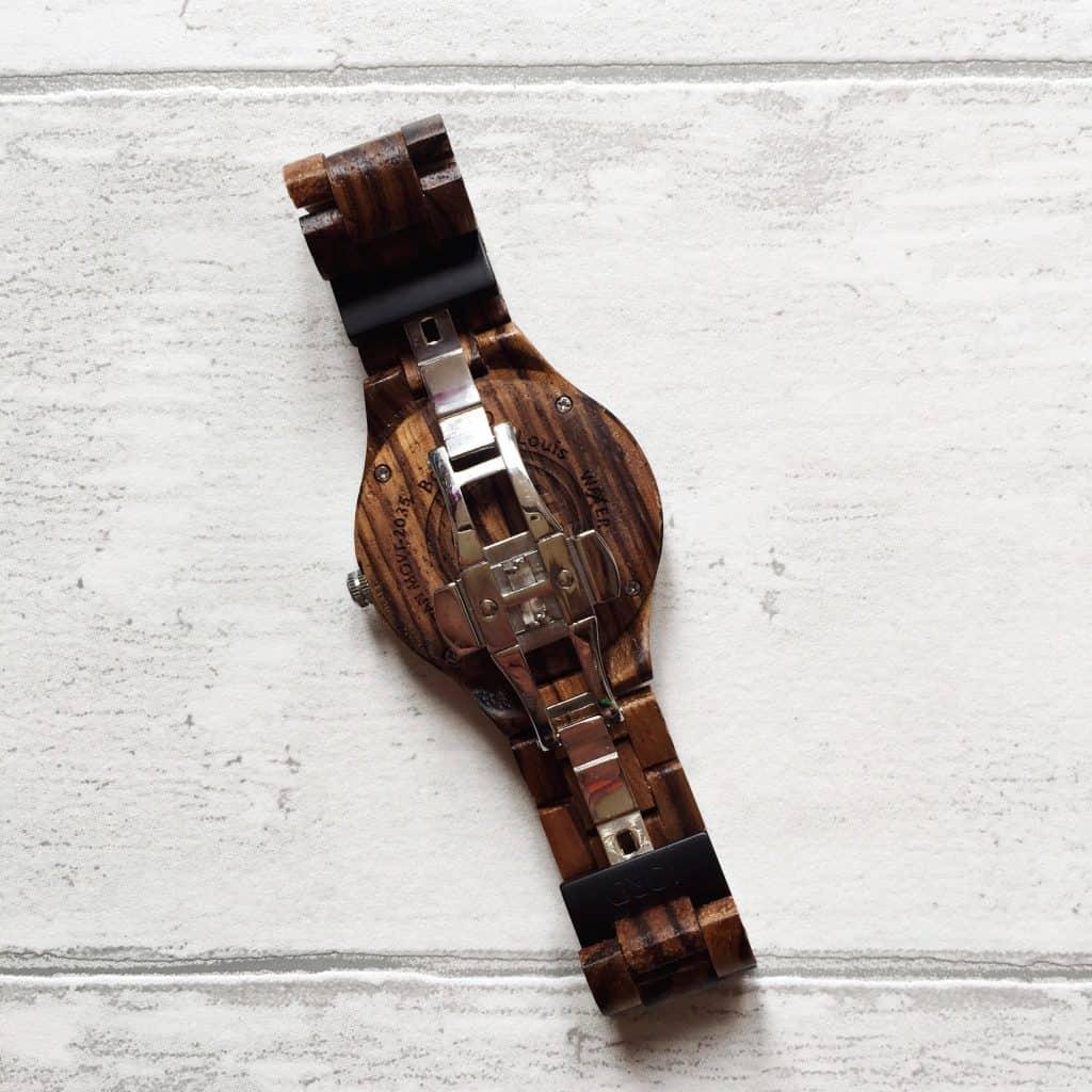Review Wooden Wrist Watch Jord back